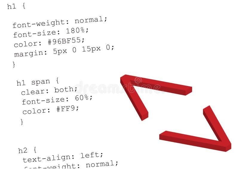 Código fuente css - vector ilustración del vector