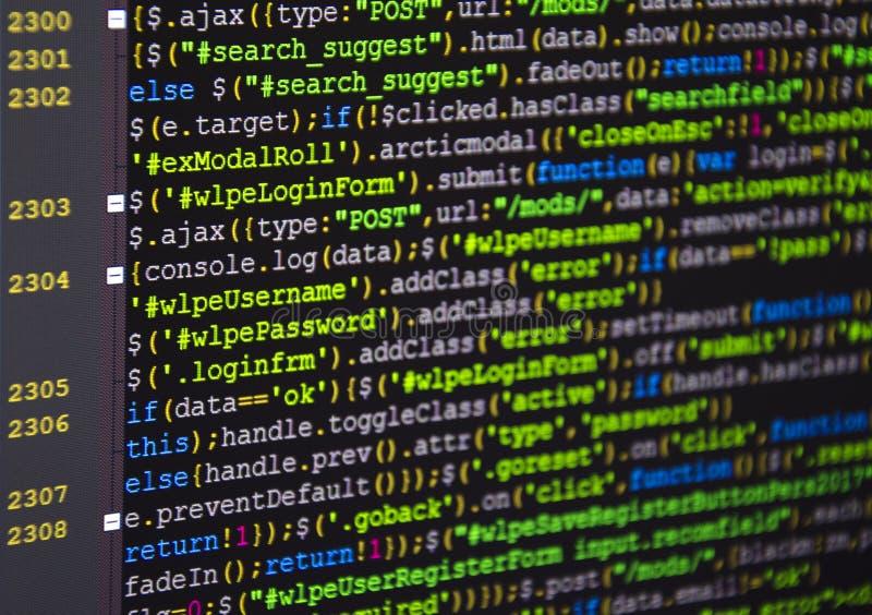 Código fuente del software Proyecto abierto de la fuente del Freeware Programación que se convierte y codificación de tecnologías fotos de archivo