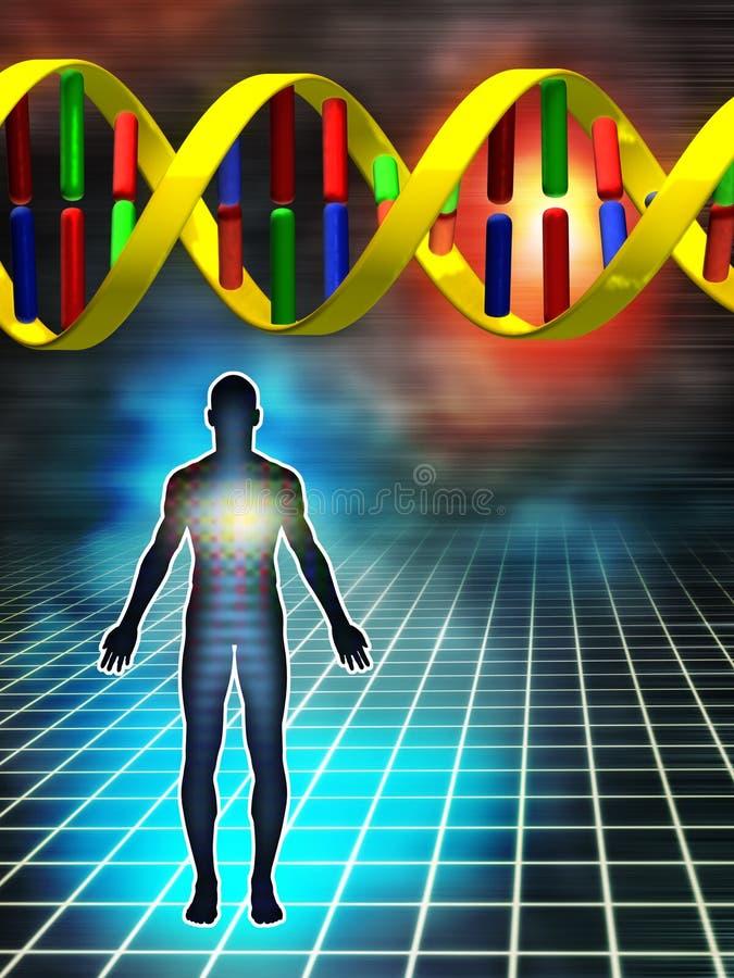 Código genético ilustración del vector