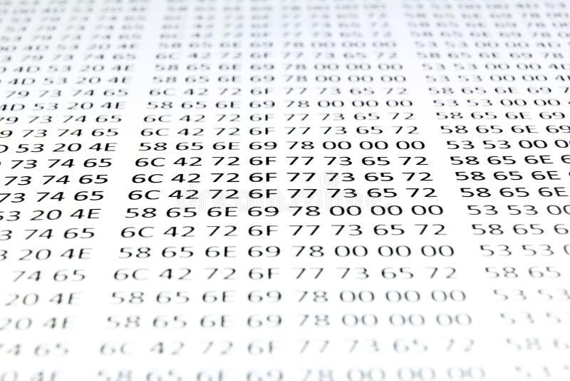Código hexadecimal foto de archivo