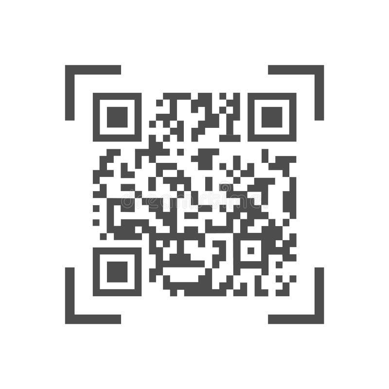 Código legible por la máquina del qr libre illustration