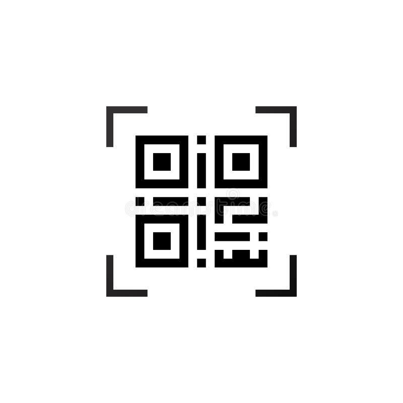Código legible por la máquina simple del qr libre illustration