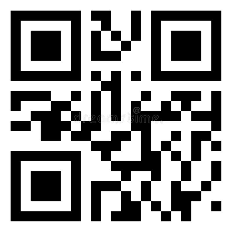 Código moderno de QR fotos de archivo libres de regalías
