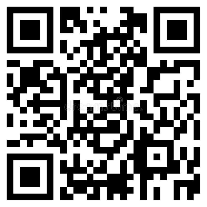 Código moderno de QR imagen de archivo