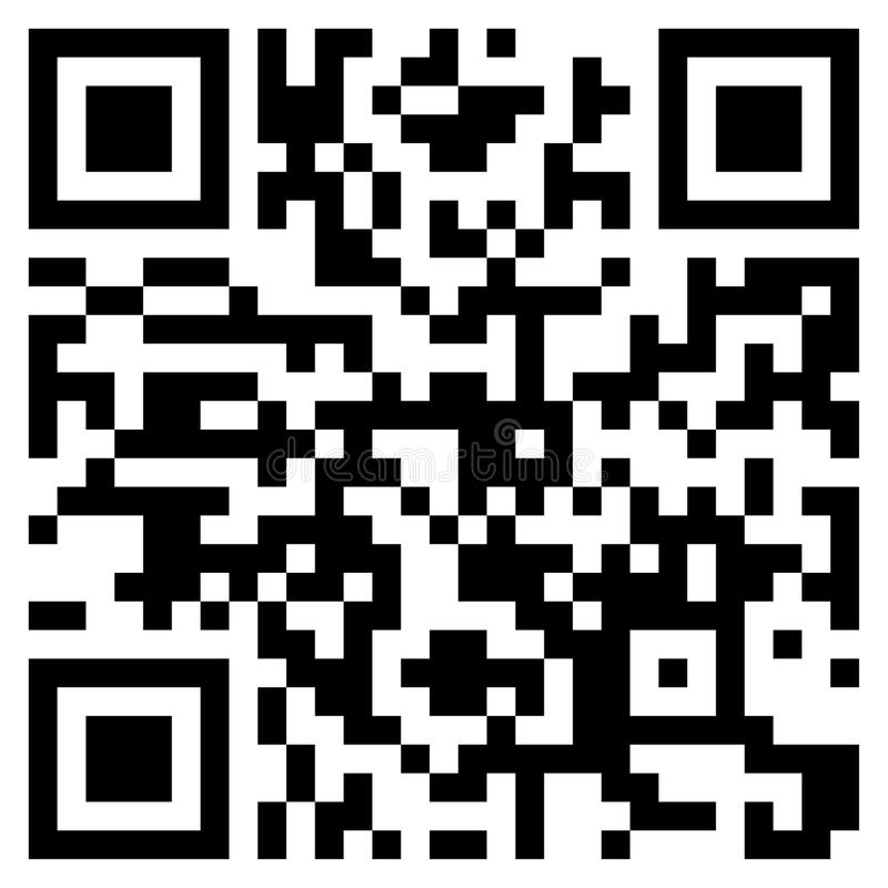 Código moderno de QR imagenes de archivo