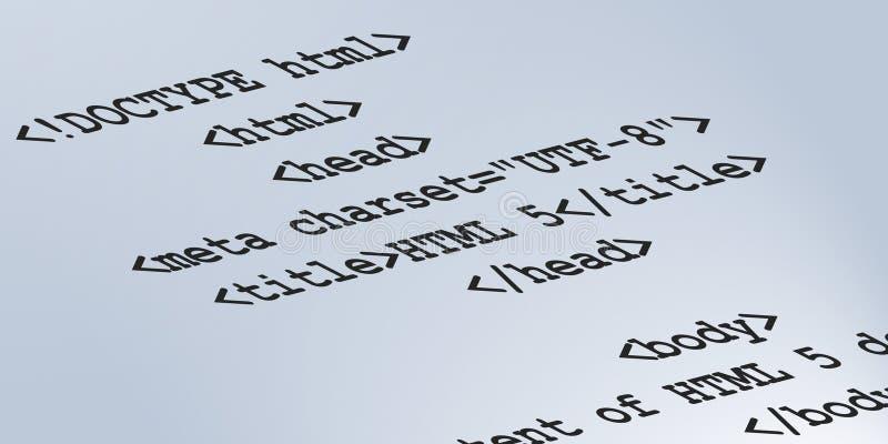 Código semántico del HTML 5 fotos de archivo