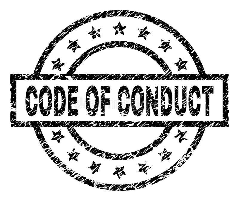 CÓDIGO Textured do Grunge do selo do selo da CONDUTA ilustração do vetor