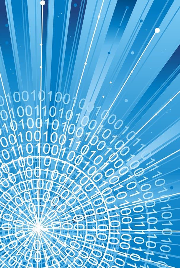 Códigos binários no fundo da tecnologia ilustração royalty free
