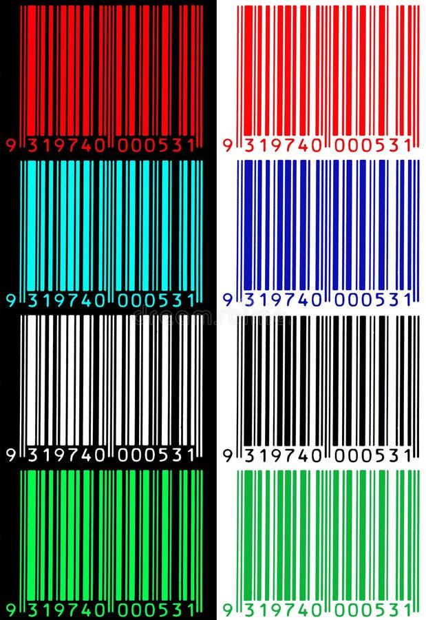 Códigos de barras ilustração royalty free