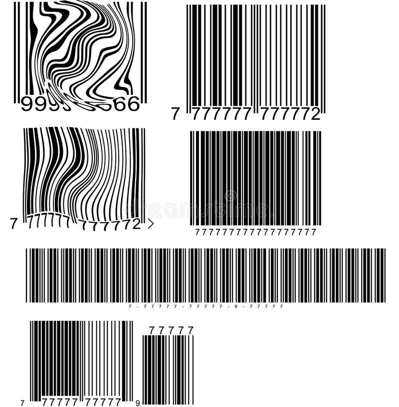 Códigos de barras ilustración del vector