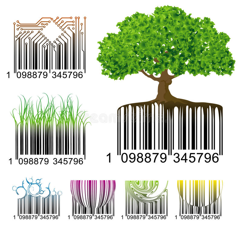 Códigos de barras stock de ilustración