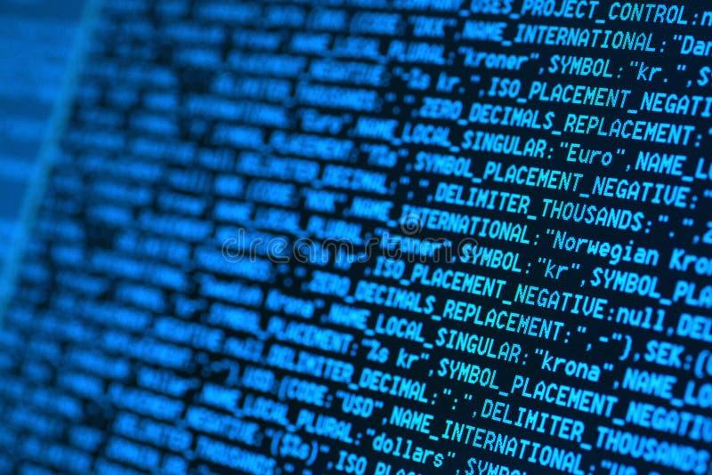 Códigos del HTML imagen de archivo