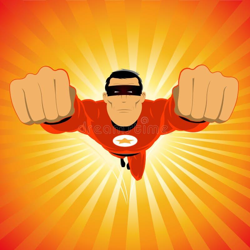 Cómico-como o Super-Hero ilustração do vetor