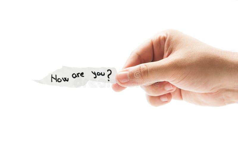 ¿Cómo está usted? fotografía de archivo