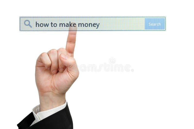 Cómo hacer el dinero imagen de archivo