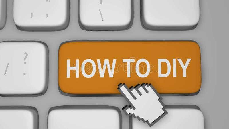 Cómo hacerlo usted mismo en línea ilustración del vector