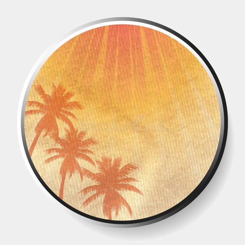 cópia abstrata do verão 3D na beira material desintegrada foto de stock