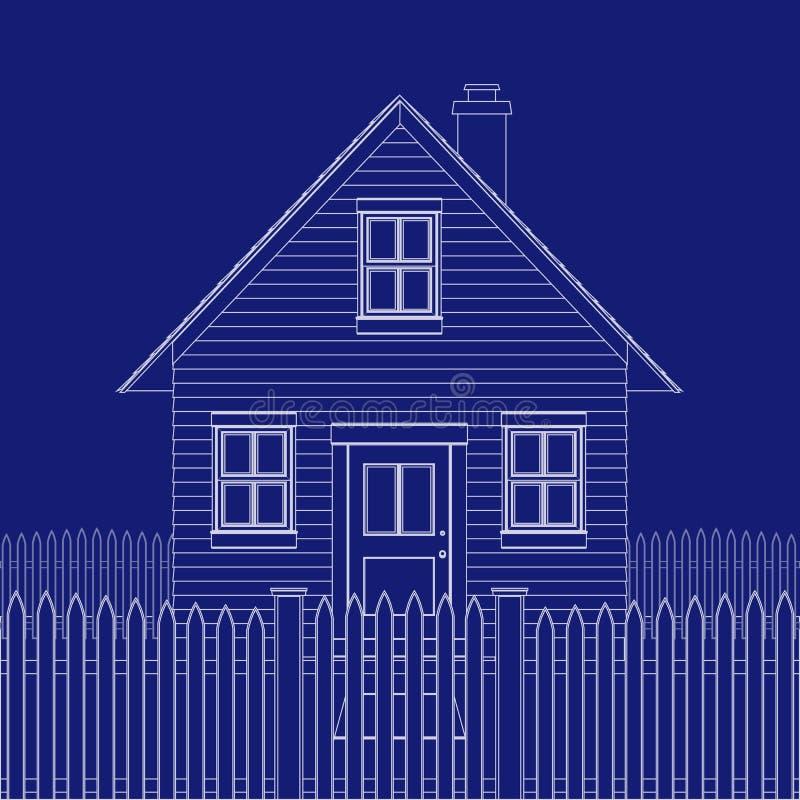 Cópia azul da casa ilustração stock