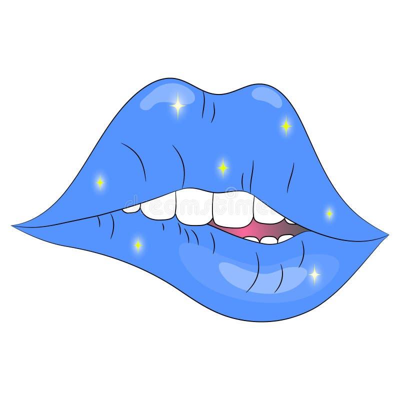 Cópia azul dos bordos ilustração royalty free