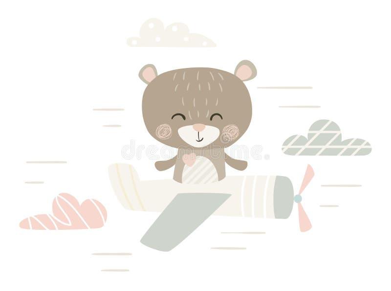 Cópia bonito do urso ilustração stock
