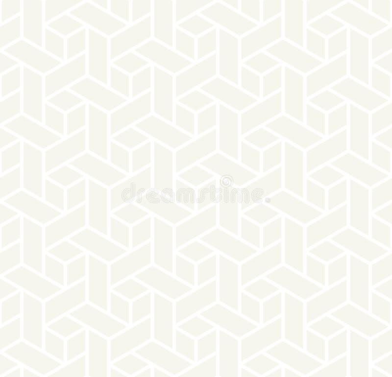 A cópia clara geométrica 3d do projeto gráfico cuba o teste padrão ilustração do vetor