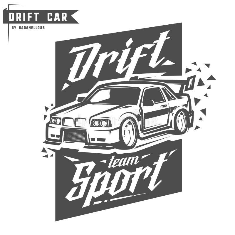 Cópia da equipe de esporte da tração para o t-shirt, os emblemas e o logotipo fotos de stock royalty free
