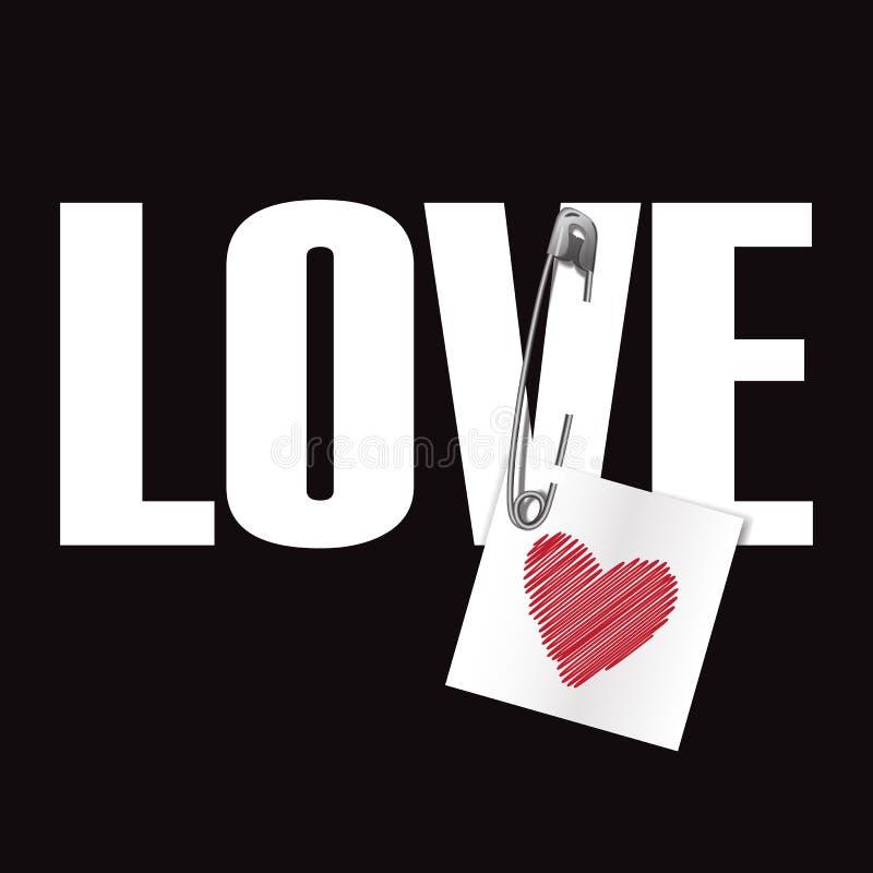 Cópia da forma do t-shirt do amor ilustração do vetor