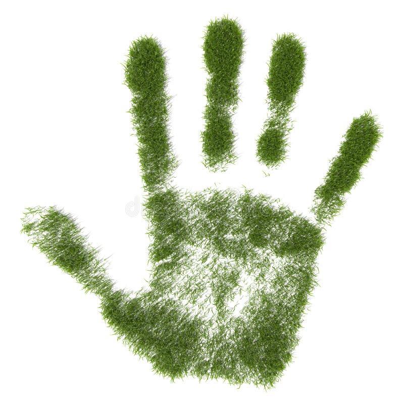 Cópia da mão de grama ilustração do vetor