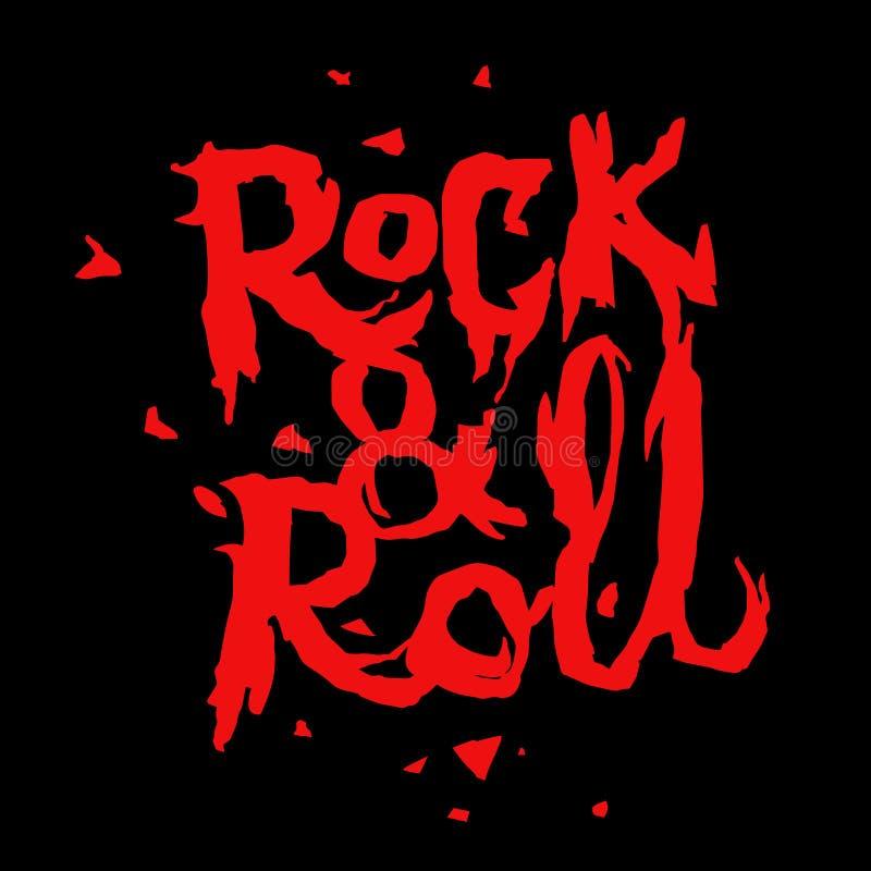 Cópia da música do rock and roll imagem de stock