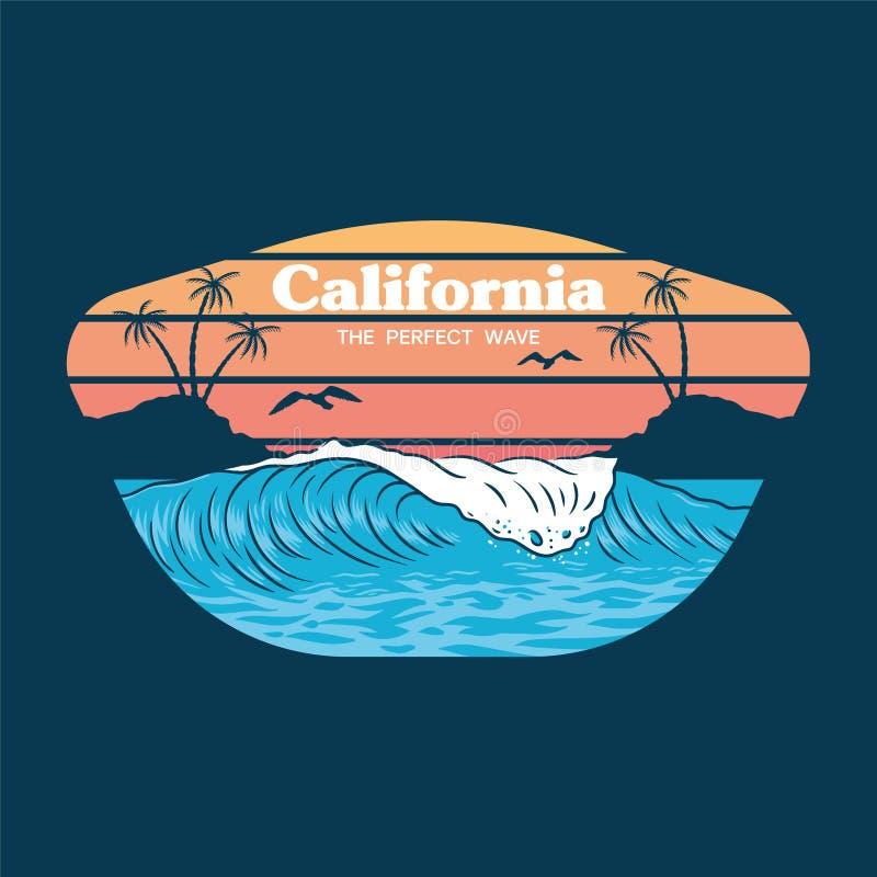Cópia da onda de Califórnia ilustração royalty free