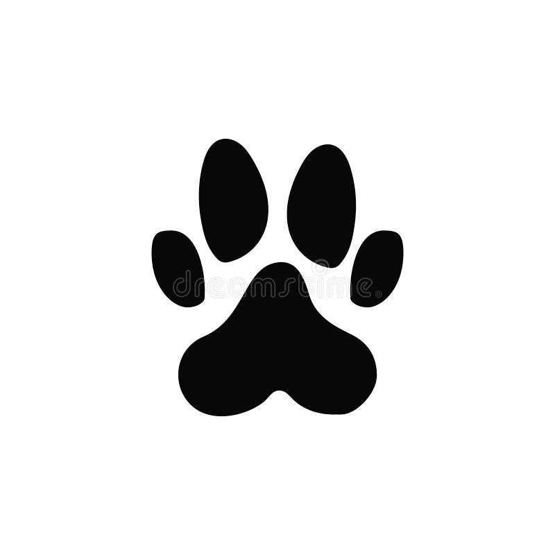 Cópia da pata do cão, ícone Elemento do ícone simples para Web site, design web, app móvel, infographics Linha grossa ícone para  ilustração do vetor