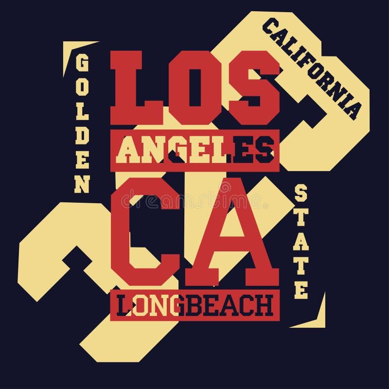 Cópia da tipografia de Califórnia, t-shirt do urso pardo Vetor ilustração royalty free