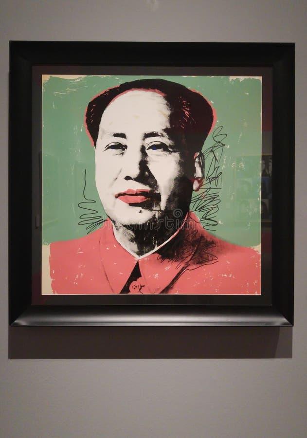 Cópia de Andy Warhol Mao Zedong fotos de stock