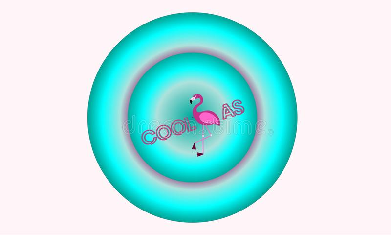 Cópia de néon do flamingo fresca como o flamingo imagens de stock