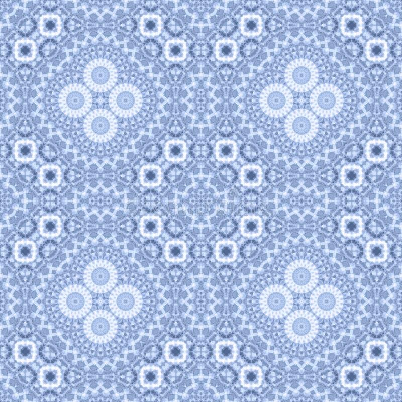 Cópia decorativa do mosaico calidoscópico abstrato sem emenda do teste padrão ilustração stock