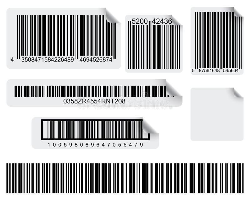 Cópia do código de barras ilustração stock