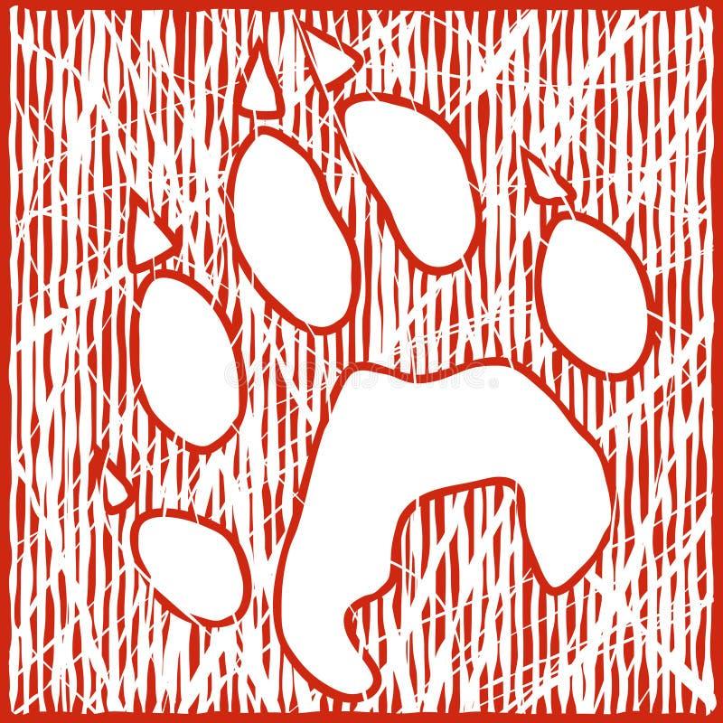 Cópia do lobo ilustração stock
