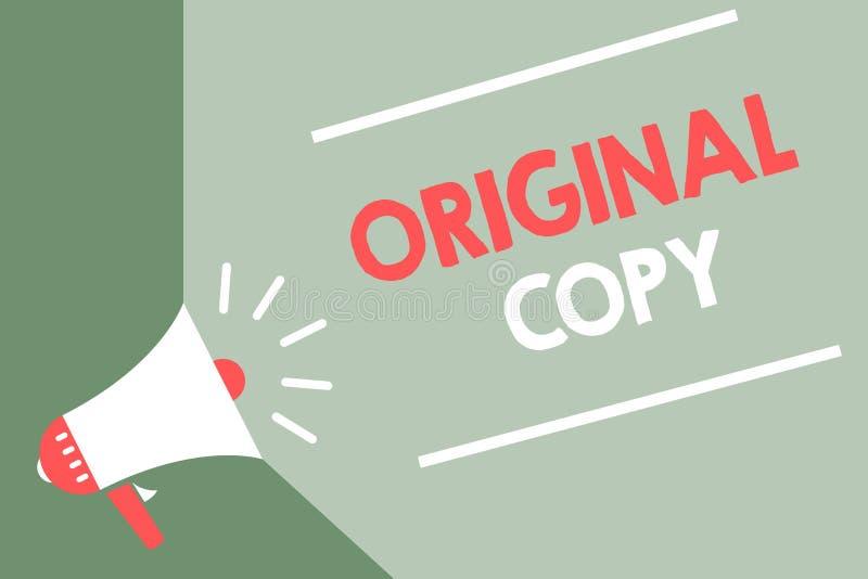 Cópia do original do texto da escrita Conceito que significa CCB patenteado marcado Unprinted do verde do altifalante do megafone ilustração stock