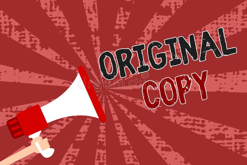 Cópia do original do texto da escrita da palavra Conceito do negócio para homem patenteado marcado Unprinted da lista principal d ilustração do vetor
