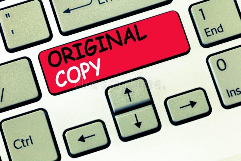 Cópia do original do texto da escrita da palavra Conceito do negócio para lista principal patenteada marcada Unprinted do roteiro fotos de stock royalty free