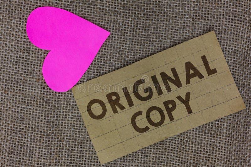Cópia do original do texto da escrita da palavra O conceito do negócio para parte patenteada marcada Unprinted da lista principal fotografia de stock