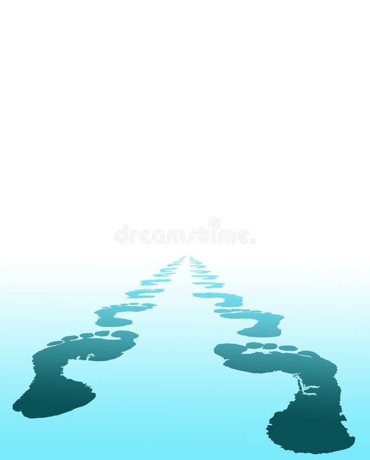 A cópia do pé escolhe seu futuro ilustração stock