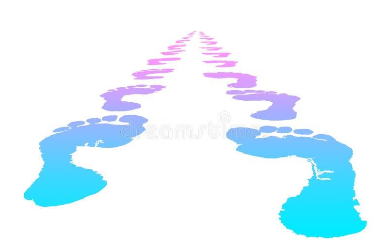 A cópia do pé escolhe seu futuro ilustração do vetor