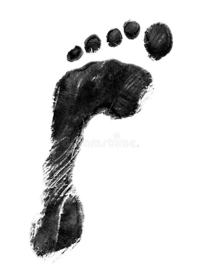 Cópia do pé esquerdo imagem de stock