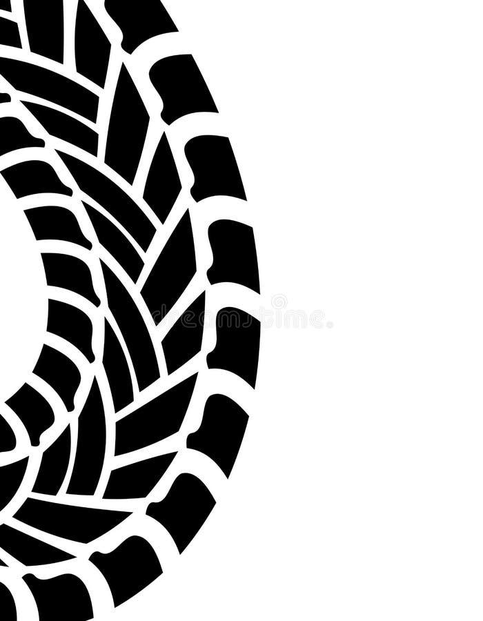 Cópia do pneu ilustração royalty free