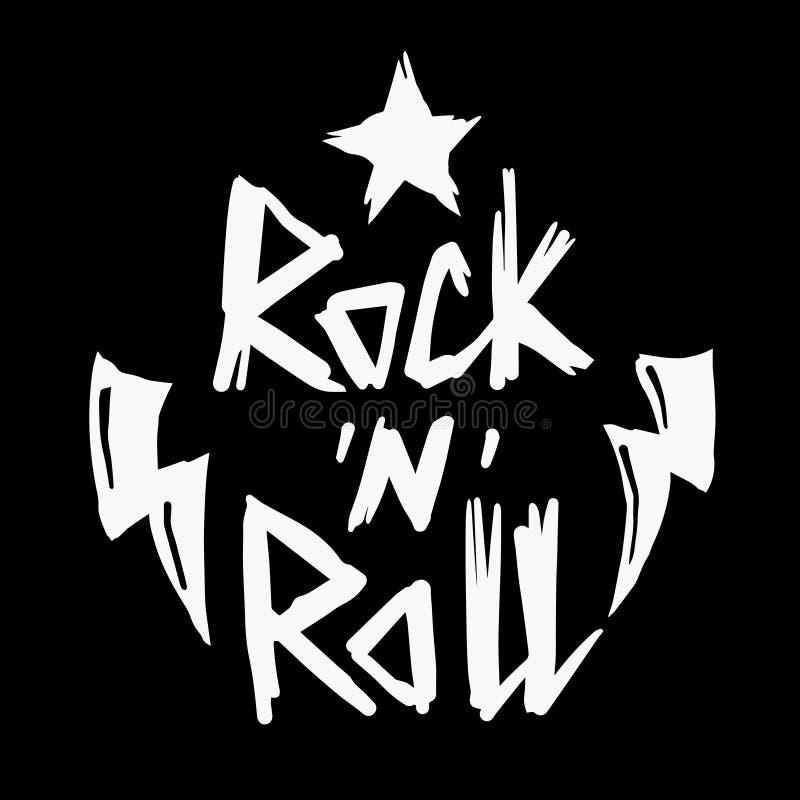 Cópia do rock and roll foto de stock