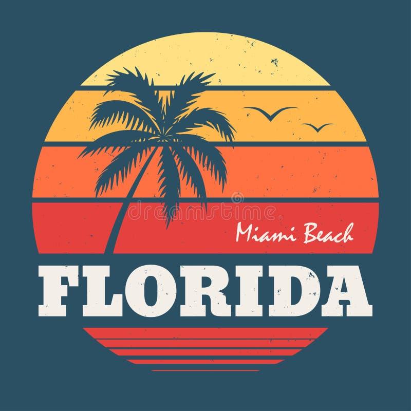 Cópia do T de Florida Miami Beach ilustração royalty free