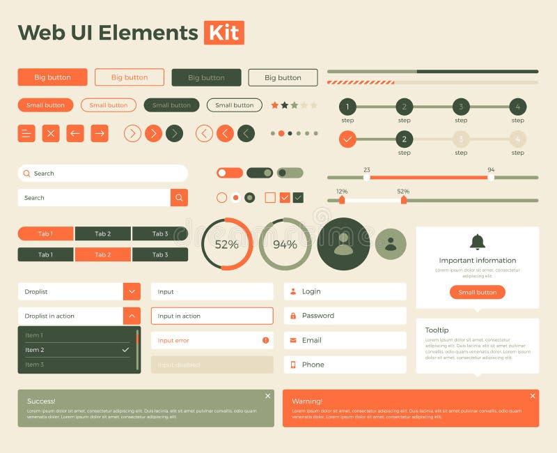 cópia do Web-ui-elemento-jogo ilustração stock