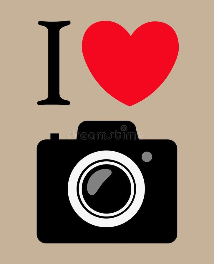 Cópia eu amo a fotografia. fundo do vetor ilustração do vetor