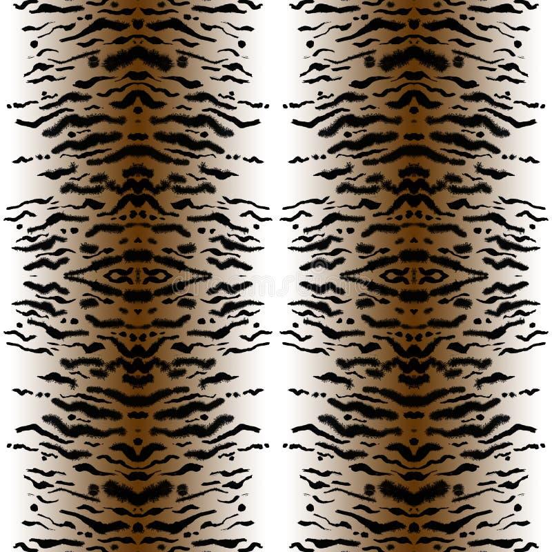 Cópia feito a mão sem emenda do tigre ilustração royalty free